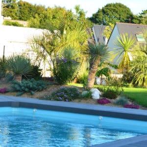 massif palmier capp paysage benodet piscine - Jardins d'ambiance